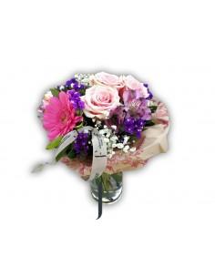 Bouquet 5 rosas rosas