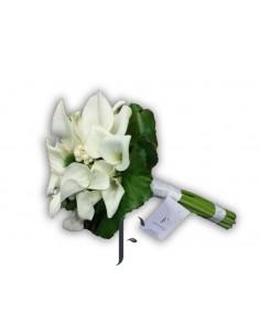 Bouquet 6 rosas blancas