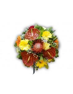 Bouquet exótico colores cálidos