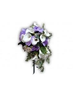 Bouquet novia orguideas