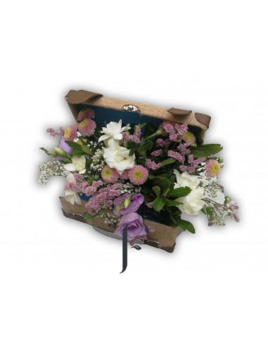 Caja con flores del tiempo