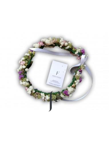 Corona novia tono blanco