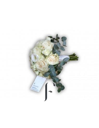 Bouquet rosas blancas ideal novia
