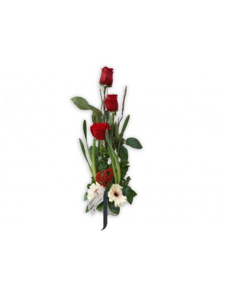 Centro flores san valentin