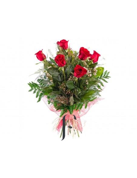 Ramo 6 Rosas Rojas San Valentin