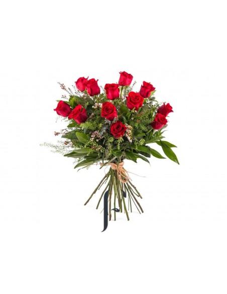 Ramo 12 Rosas Rojas San Valentin