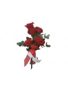 5 Rosas con Jarrón