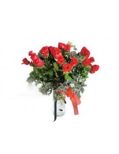 Ramo 18 Rosas con Jarrón